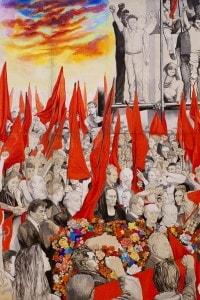 Renato Guttuso, I funerali di Togliatti (1972)