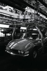 Foto storica di uno stabilimento Fiat a Rivalta di Torino