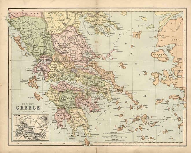 Cartina Della Grecia Antica In Italiano.Grecia Classica E Polis Mappa Concettuale Studenti It