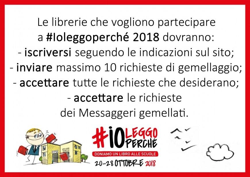 #Ioleggoperché 2018: come iscrivere la propria libreria