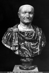 Busto marmoreo riproducente l'imperatore Vespasiano