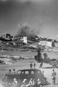 Bombardamento del villaggio di Miar durante l'epoca del mandato britannico