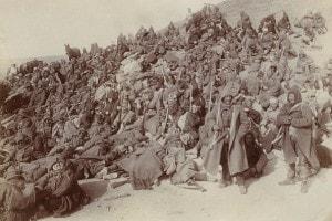 Prima guerra balcanica: Retroguardia dell'esercito turco sulla strada Giannitsa, in Grecia
