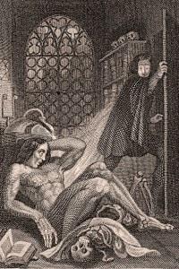 Il frontespizio del libro Frankenstein di Mary Shelley