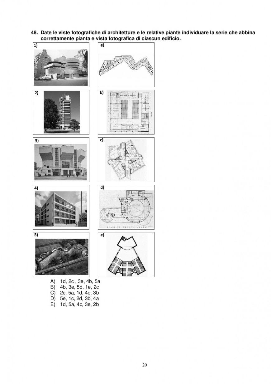 Test Architettura 2018: domande e soluzioni