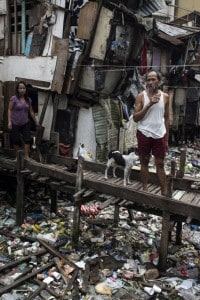 Uno scorcio di una bidonville nelle Filippine