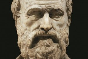 Busto di Lisia: giurista e logografo greco