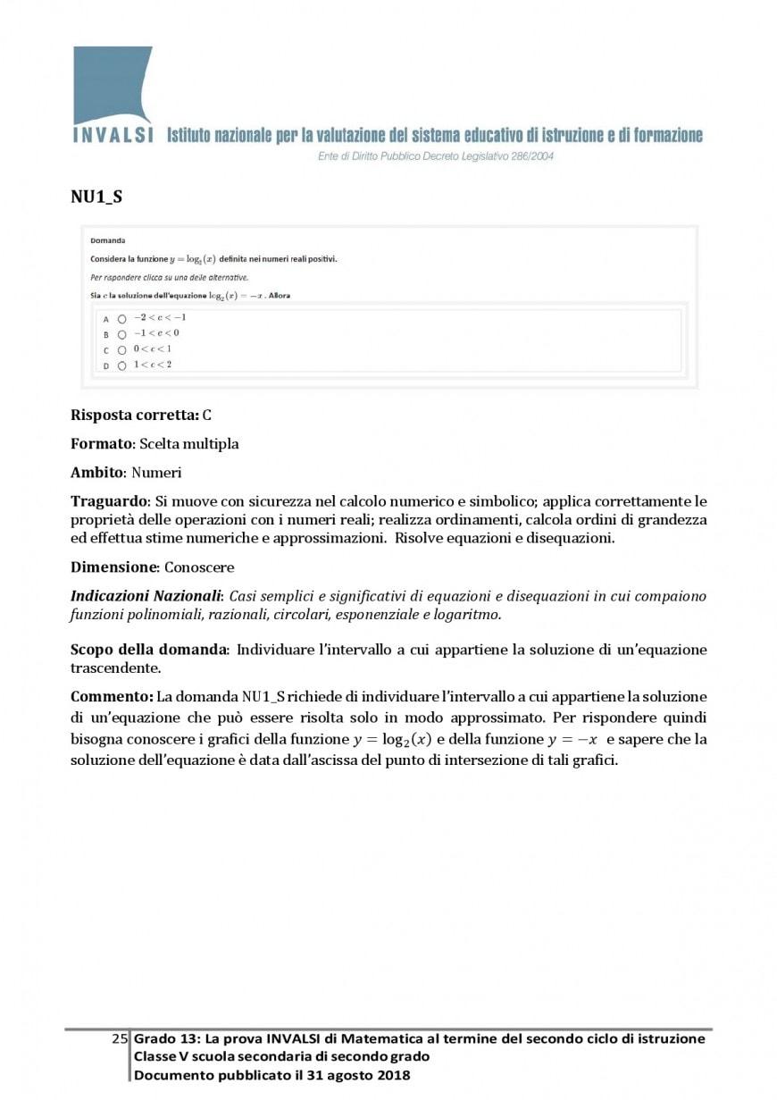 Test Invalsi, esempi prova di matematica per la quinta superiore