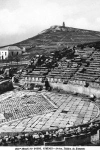 Veduta interna del Teatro di Dioniso fatto costruire ad Atene durante il governo di Licurgo