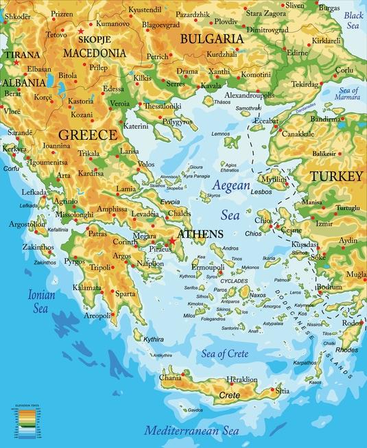 Cartina Della Grecia Politica.Geografia Della Grecia Stato E Territorio Studenti It