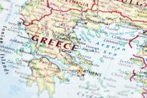Carta geografica della Grecia