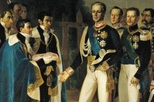 Carlo Alberto di Savoia re di Sardegna dal 1831 al 1849 durante una visita a Cagliari
