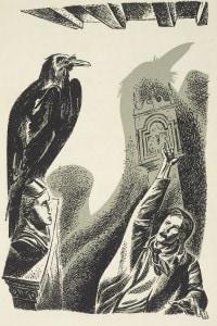 Illustrazione de Il Corvo di Edgar Allan Poe