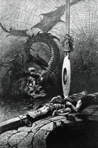Illustrazione del racconto Il pozzo e il pendolo di Edgar Allan Poe