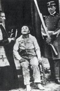 Il brigante Antonio Curcio, fucilato nel 1870