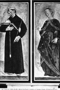 San Tommaso d'Aquino e Sant'Apollonia. Scomparti di polittico di Giovanni Boccati