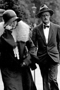 Nora Barnacle e James Joyce  il giorno del loro matrimonio, il 4 luglio 1931