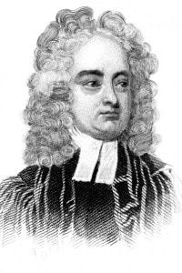 Jonathan Swift (1667-1745) autore, tra gli altri, de I viaggi di Gulliver.