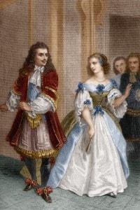 Il misantropo di Molière: incisione di Delannoy su disegno di G. Staal