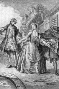 La scuola delle mogli di Molière:  commedia in 5 atti (Atto 5, Scena 3) presentata al Teatro Royal Palace il 26 dicembre del 1662.