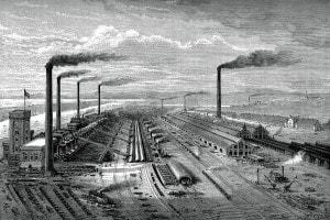 Seconda rivoluzione industriale: immagine del 1880