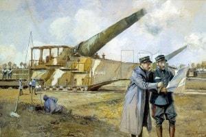 Grande Guerra, dipinto di Francois Flameng del 1916