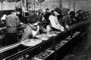 Un impianto Ford nel 1914
