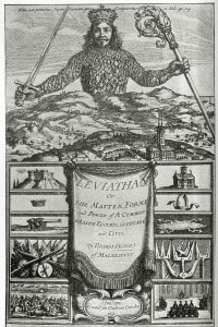 Altra copertina del Leviatano, stavolta del 1652
