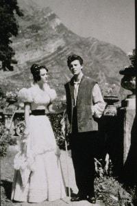 Renée Faure e Lucien Coëdel sul set de La Chartreuse de Parme, film del 1948