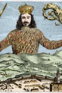 Frontespizio del Leviatano, pubblicato nel 1651