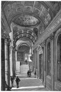"""Un particolare dell'interno della basilica di Santa Croce a Firenze, """"responsabile"""" della sindrome che colpì Stendhal nel 1817 durante il suo Grand Tour"""