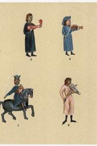 Trovatori provenzali, illustrazione del XIII secolo