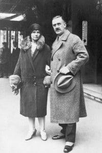 Thomas Mann e sua moglie Katia, 1920
