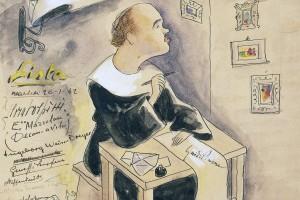 Caricatura di Giuseppe Parini