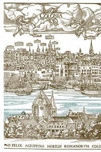 Veduta della città di Worms nel 1531