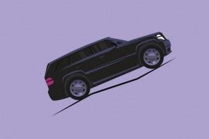 Lavoro di una forza: esempio di un auto in salita