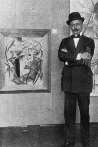 Filippo Tommaso Marinetti (1876-1944), fondatore del movimento Futurista