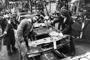 9 giugno 1978: catena di montaggio della Ford di Dagenham