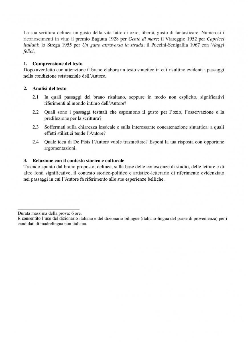 Simulazioni prima prova maturità: esempio Miur per la traccia di analisi del testo