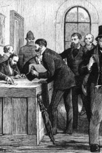 Seggio elettorale, nel 1873 circa