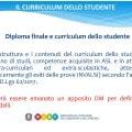 Diploma e curriculum dello studente