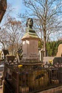 La tomba di Honoré de Balzac, nel cimitero di Père-Lachaise