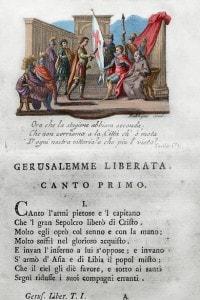 Gerusalemme liberata di Tasso, 1581. Stampato a Venezia, 1788