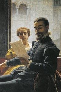 Torquato Tasso legge la Gerusalemme liberata a Eleonora d'Este: dipinto di Domenico Morelli