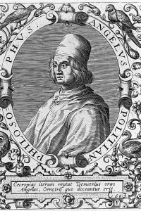 Angelo Poliziano, considerato il principe degli umanisti