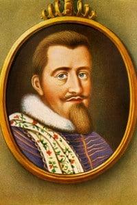Ritratto di Cristiano IV (1577-1648): fu re di Danimarca e di Norvegia