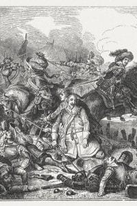 La morte di Gustavo Adolfo nella battaglia di Lützen, 1632.