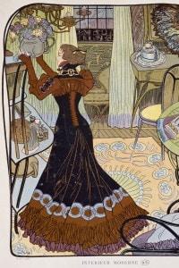 """Illustrazione di Georges de Feure per il romanzo """"Alla ricerca del tempo perduto"""" di Proust"""