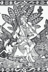 Fabula d'Orfeo di Angelo Poliziano. Incisione per un'edizione del 1550