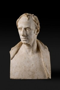 Busto in marmo di Wordsworth, commissionato da George Beaumont